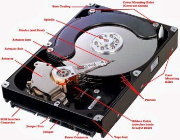 کالبد شکافی هارد دیسک
