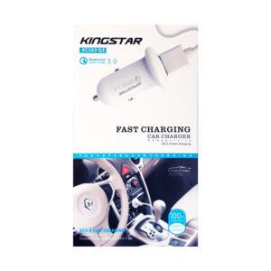 Car Charger KC163 Q3 شارژر فندکی کینگ استار
